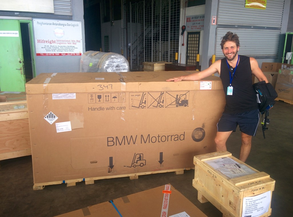 Very happy to see our bikes again, even in their boxes