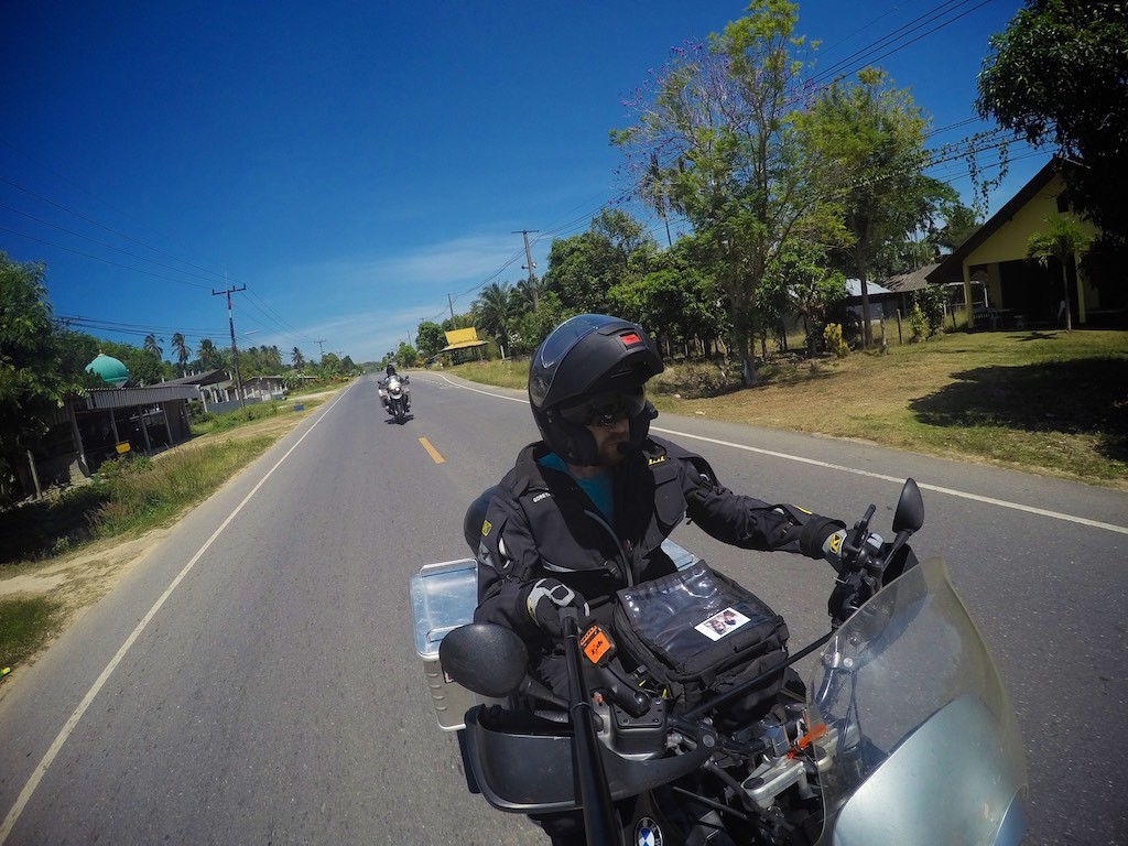 Riding the streets of Thailand, on our way to Koh Lanta