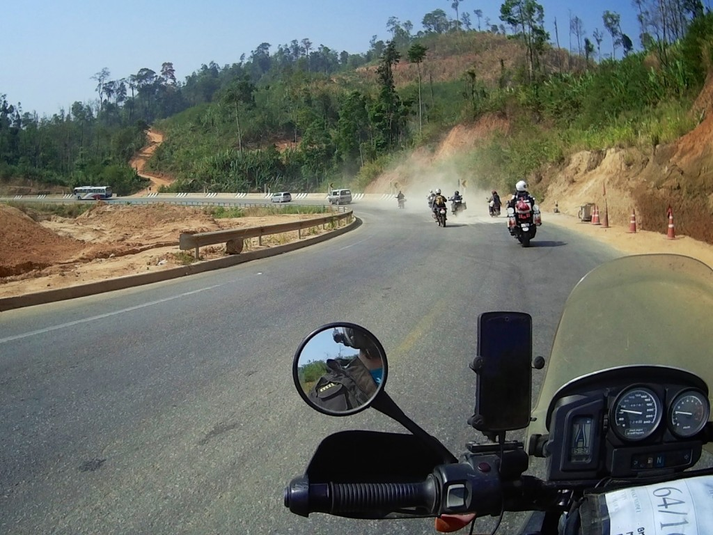 "Our first taste of Burmese roads on the ""Friendship Highway"""