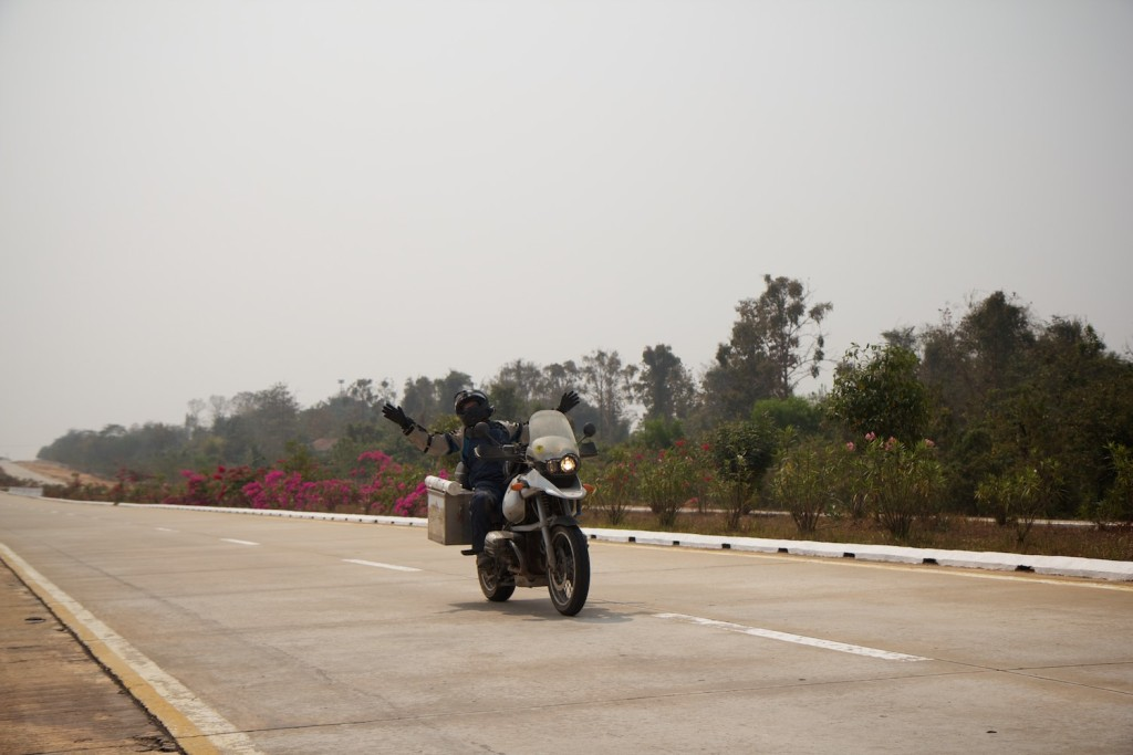 This highway led to a purpose built capital city with nearly no inhabitants, which meant the was nearly no traffic on the roads. A great place to practise your 'look mum no hands' riding technique