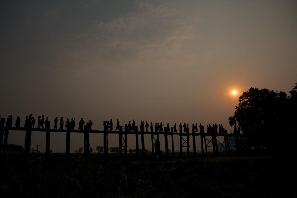 Mandalay's wooden bridge