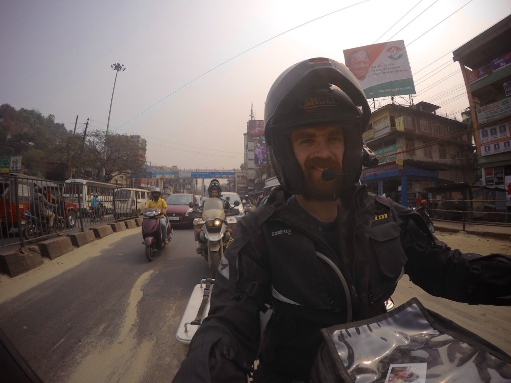 Riding through the streets of Guwahati