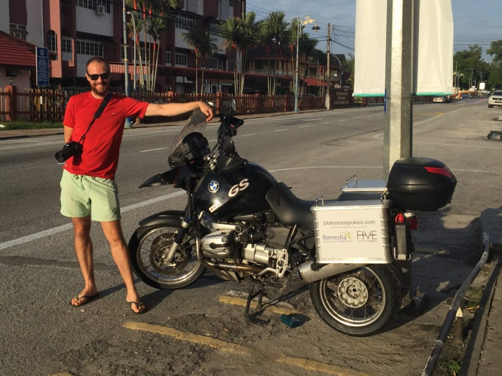 Jimmy, on the streets of Malaysia. It takes two to tango, and I wouldn't have made it without his help
