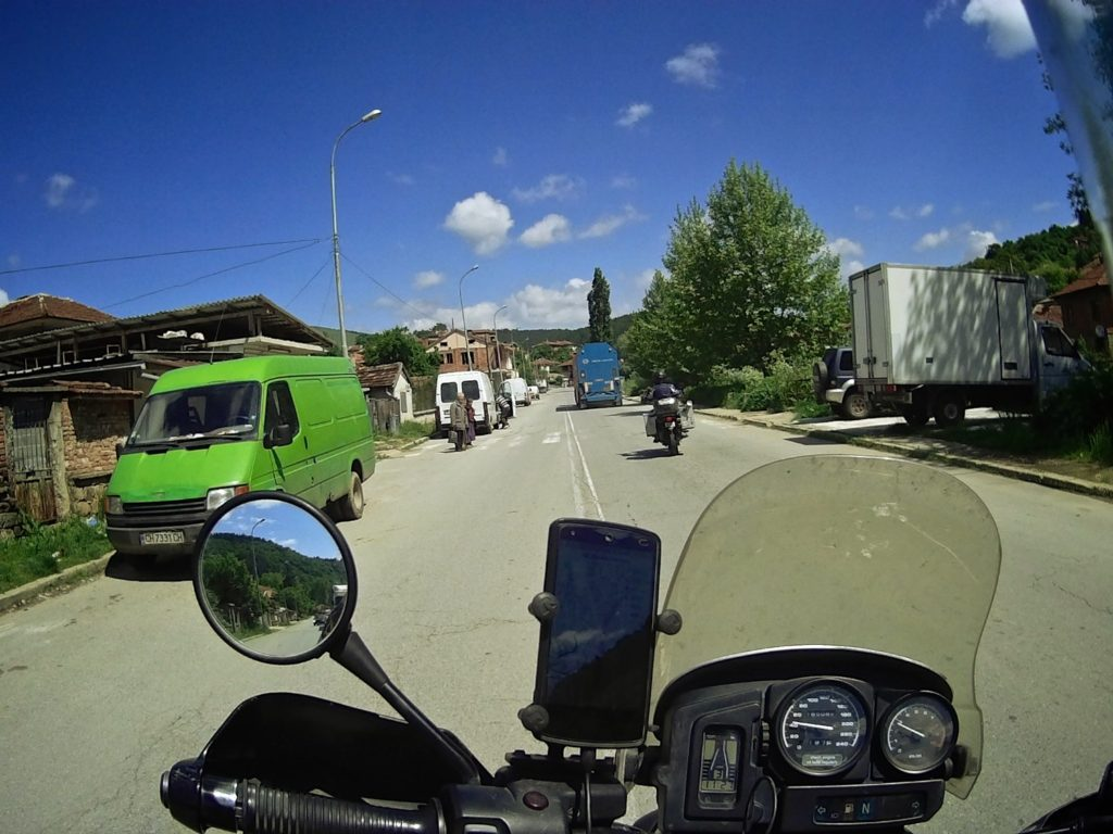 Passing through the streets of country Bulgaria